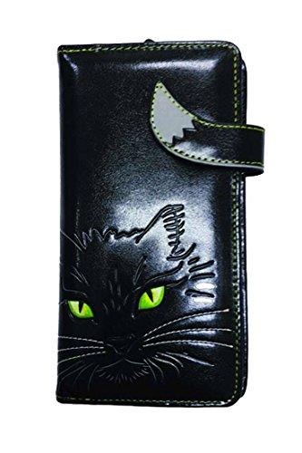 Nemesis Lucky Kitty Schwarze Katze VEGAN Geldbörse Nemesis New Pagan Hexe Geschenk Bedlam