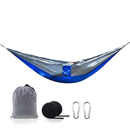 WYH Sdraio Camping Hammock - Doppia Parachute Amaca Leggero Nylon delle Donne degli Uomini dei Bambini, Accessori da Campeggio Ingranaggi Poltrona