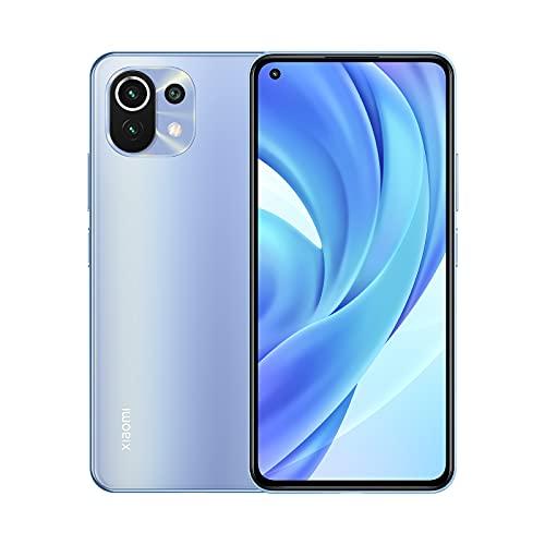 Xiaomi Mi 11 Lite - Smartphone 6+64GB, 6,55  AMOLED Dot Display, Snapdragon 732G, 64 MP AI Tripla Camera, 4250 mAh, Bubblegum Blue