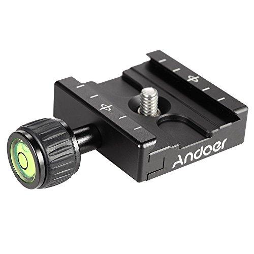Andoer Adapter Piatto quadrato Pinza con torica per piastra a sgancio rapido per treppiedi Ball Head Arca Swiss RRS Wimberley
