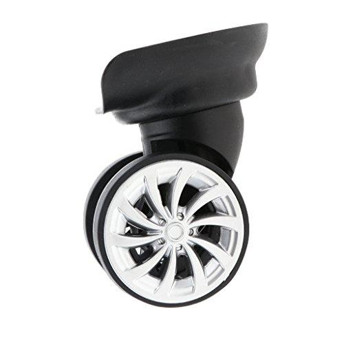 Toygogo 1 Par de Ruedas de Doble Rodillo de Repuesto Universales Negras para Maleta con Ruedas/Bolsa de Viaje