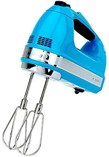 KitchenAid RKHM9CL 9-Speed Most Powerful Digital Display Power Hand Mixer Crystal Blue (Renewed)