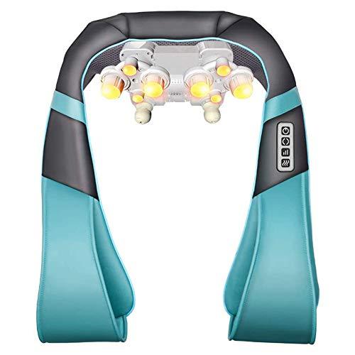 RUXMY Shiatsu Rückenschulter, Nackenmassagegerät mit Heat Deep Tissue 4D Knetkissenmassagegerät zur Linderung von Muskelschmerzen