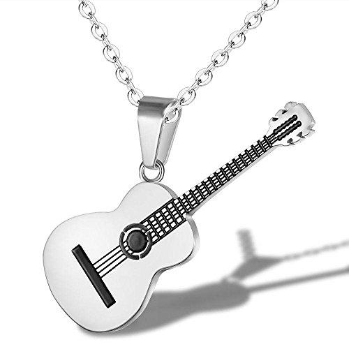 YAZILIND Cadena de Acero de Titanio Collar de la música cl�