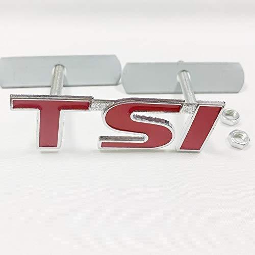 HONGGE para TSI Logo 3D Coche Styling Frontal Pegatinas de Metal Grille Emblem Badge para T4 T5 Golf 4 5 6 7 Passat B6 Tiguan (tamaño : A)