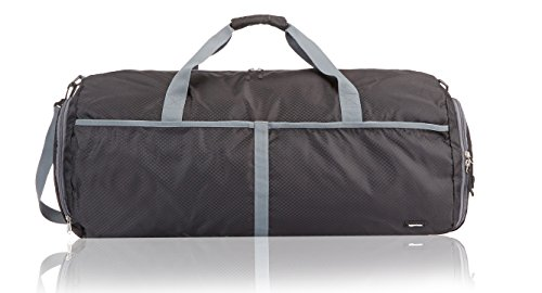 AmazonBasics Packable Travel Gym Duffel Bag - 27 Inch, Black