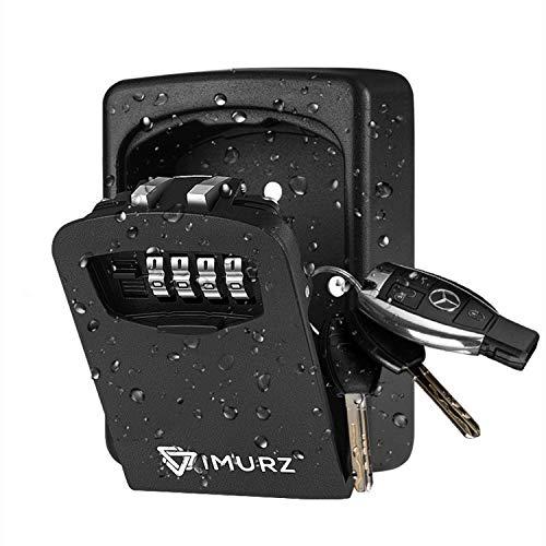 Schlüsseltresor Schlüsselsafe Mit 4-stelligem Zahlencode,Schlüsselbox mit Zahlenkombination,wasserdicht und rostfrei, Key Safe, Key Lock Box zur Wandmontage