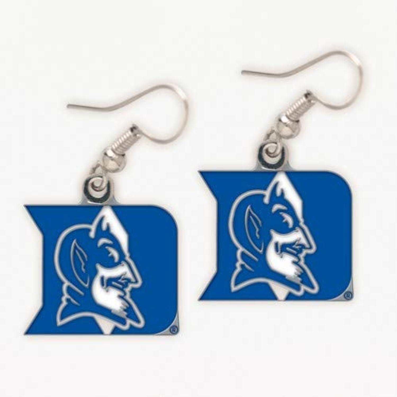 NCAA Team School Logo Hypoallergenic Dangle Earrings (Duke bluee Devils)