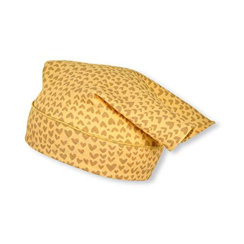 Sterntaler Baby Mädchen Kopftuch 1452101 Hut, gelb, 47 EU