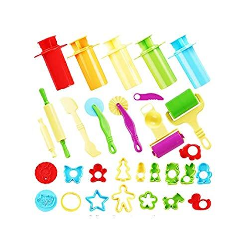 THE TWIDDLERS 30-teiliges Set Kinderknete Werkzeuge & Ausstechformen