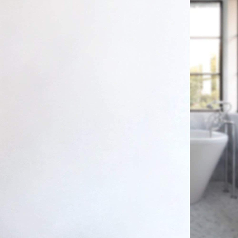 Privacy Window Film White Window Film, no Glue Static Preservation Window Sticker Opaque Window,Vinyl Decorative Film,for Smooth Glass, Bathroom Windows, Kitchen,60(23.62in)200(78.74in) cm