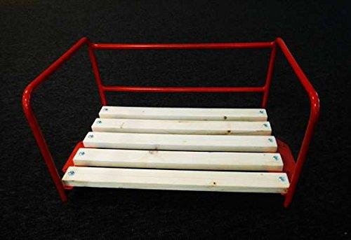 Traktor-Sitz Rot mit Bügel für Beifahrer / Sozius-Sitzbank / Traktorsitz Trecker Kotflügel Schlepper Kinder Bank Beifahrersitz Stuhl Sessel Platz Schlepper
