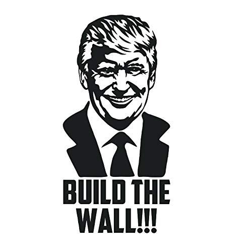 zhuziji Justice League Wandaufkleber Rexdonald Trump Bauen Sie das Auto Stoßstange Präsident Kampagne Decar Machen Sie Amerika Great Againvinyl Removable Schlafzimmer W54x30cm