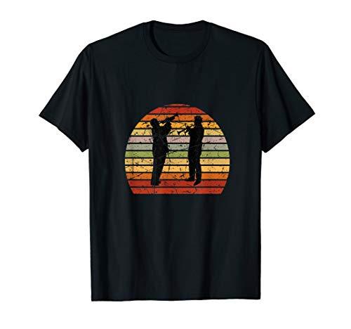 Herren Retro Trompete   Blasmusik Trompetenspieler Trompeter T-Shirt