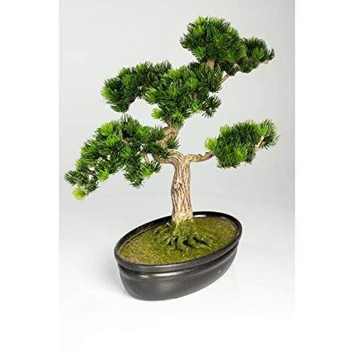 Decorativo bonsái pino japonés en cuenco para bonsais, 320 ápices, 40 cm - Bonsáiartificial / Planta sintética - artplants