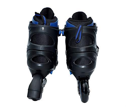 Klapp ABEC-7 Aluminum 70mm Wheel Inline Skate (Black:Blue, L)
