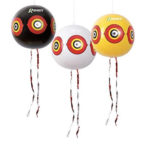 Ribiland 07362 - Ballon Effaroucheur d'oiseaux - Lot de 3 - Jaune
