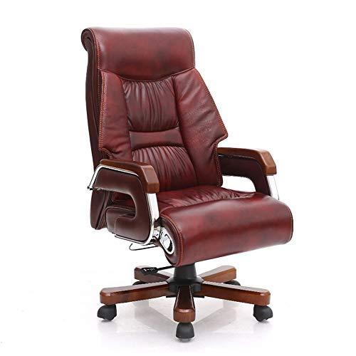 Hoogwaardige ergonomische bureaustoel, bruin PU-leer, gedraaid en opgetild, 7-punts massage- en voetsteunstoel, ergonomische vermoeidheid, geschikt voor op kantoor thuis.