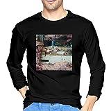 For L And Yu Men's Long Sleeve T-Shirts Pusha Daytona T Cotton Round Neck T Shirts Black