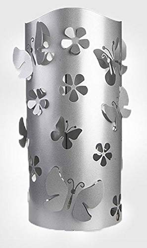 CAI & ZAI Portaombrelli Flower Grigio, Metallo, Made in Italy, Interno/Esterno, Design Moderno, portaombrelli Esterno Design Moderno, portaombrelli Interno Design Moderno
