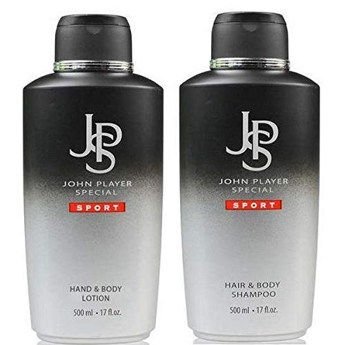 John Player Special Sport Hair & Body Shampoo 500 ml + Hand & Body Lotion 500 ml, Set