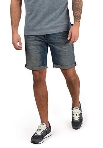 BLEND Luke - patalón baquero corto para hombre, tamaño:L;color:Denim middleblue (76201)