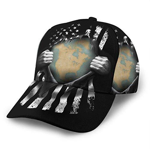 Gorra de béisbol unisex Mapa de México Gorras desmontables Snapback Bill Hip Hop Sombreros/Sombrero