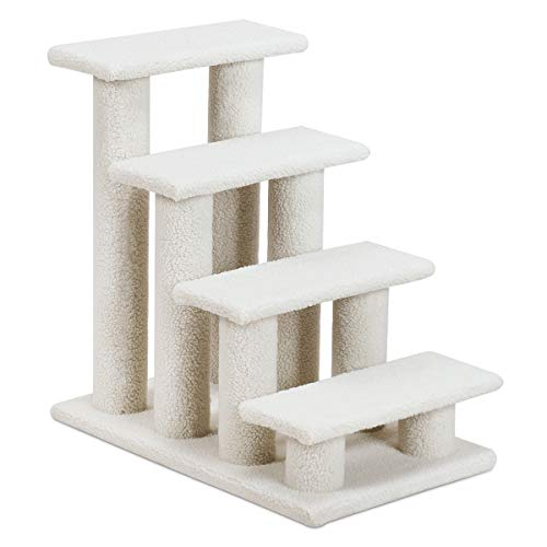 GOPLUS Tiertreppe Beige, Haustiertreppe Katzentreppe Hundetreppe Kletterbaum Katzenkratzbaum Spielbaum, Treppe für Katze