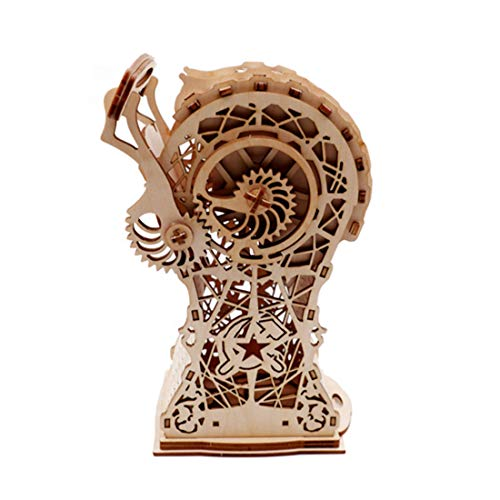 GODNECE 3D Holzbausatz, Vintage Fackel Treasure Box 3D Holz Puzzle-Mechanische Bausatz 3D Kinder DIY Modellbau Lasercut Puzzle Holz Bausatz für Kinder Erwachsene