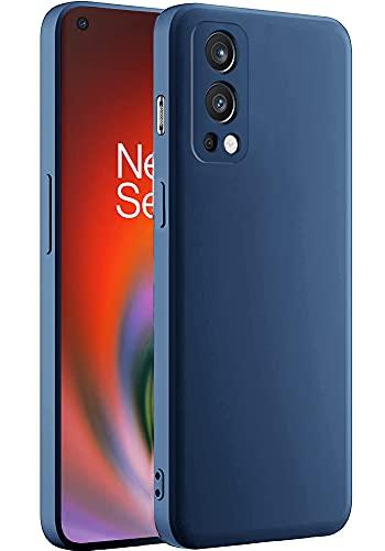 Amozo Liquid Silicon Slim Matte Finish Back Case Cover for OnePlus Nord 2 5G
