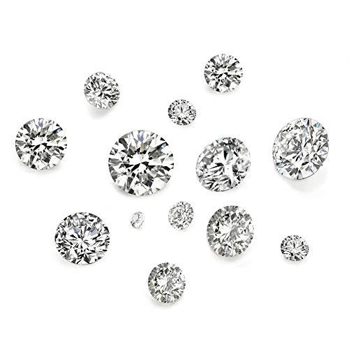 Craftdady 50 cabujones de 5 tamaños de circonita cúbica transparente, con diamantes de imitación, para pendientes, pulseras, colgantes, joyería, manualidades
