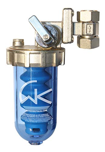WK Dosatore di Polifosfati Ruotabile con By-Pass a Rubinetto e pastiglia inclusa, Azzurro