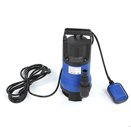 Dompelpomp, 220 V 1100 W diepbronpomp van kunststof, 16000 l/h drukpomp voor het reinigen van vuil water, maximale opvoerhoogte 9,5 m