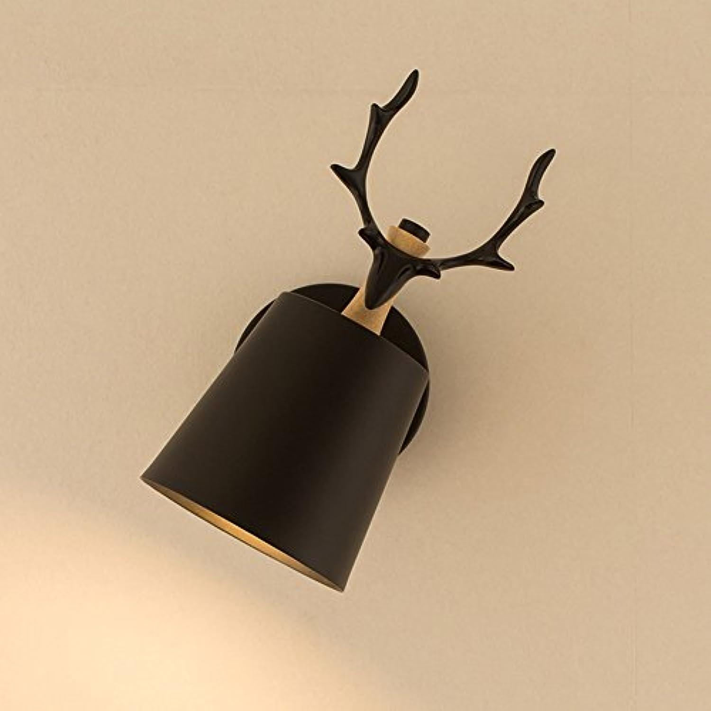 Wandleuchte Schlafzimmer Lesen Lampe Wandleuchte Schwenkarm Drehbare Schutz Auge E27 Korridor Eingang Malerei Licht (Farbe   schwarz)