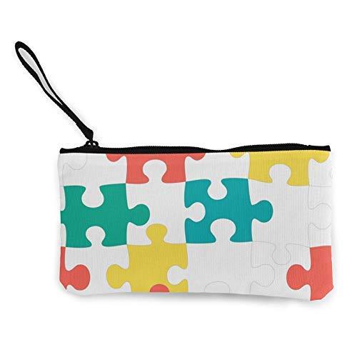 XCNGG Geldbörsen Shell Aufbewahrungstasche Puzzle Fashion Coin Purse Bag Canvas Small Change Pouch Multi-Functional Cellphone Bag Wallet Cosmetic Makeup Bag