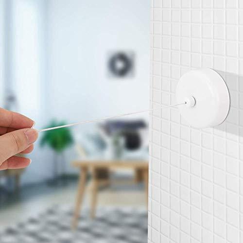 VIFER Tvättlina i rostfritt stål utdragbar tvättlina torklinjer för hotellet tvättstuga 1 st (vit)