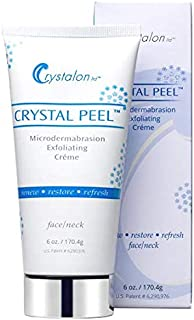 Crystalon CRYSTAL PEEL Microdermabrasion Exfoliating CREME 6 oz NEW LARGER SIZE. Same ingredients as the smaller oz size.