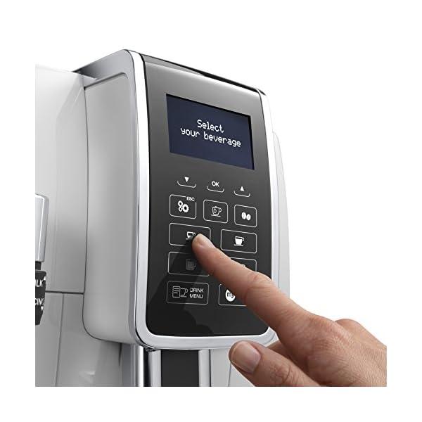 De'longhi Dinamica Ecam350.35.WH – Cafetera superautomática,