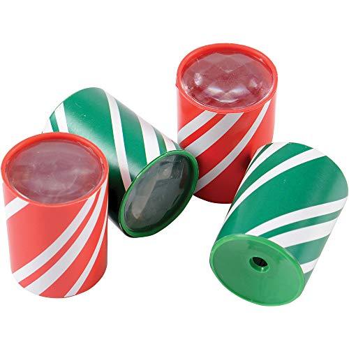 U.S. Toy Lot of 12 Assorted Christmas Theme Mini Prism Kaleidoscopes