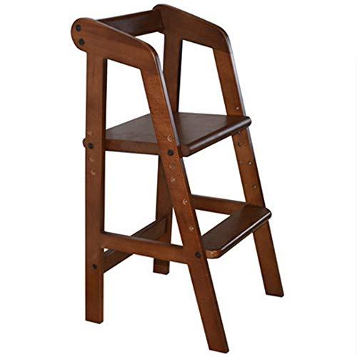 ZCFXGHH Baby Opvouwbare hoge stoel, massief hout, multifunctionele eettafel, kinderbare eettafel, eettafel,1