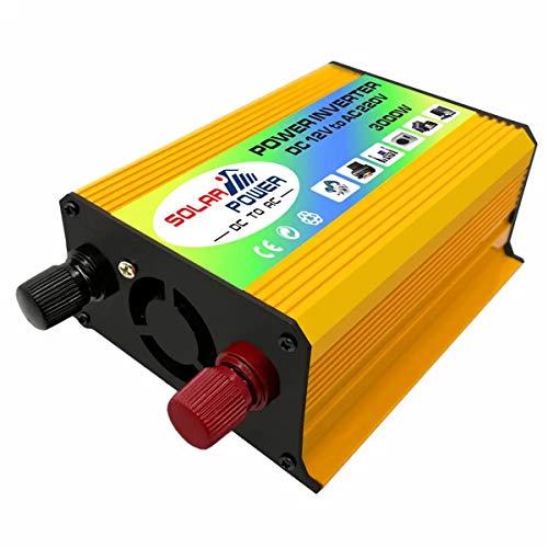 Inversor de Corriente portátil, Inversor de energía de Onda sinusoidal modificada USB del Cargador del Coche del Barco 600W convertidor DC 12V a 220V AC usos múltiples