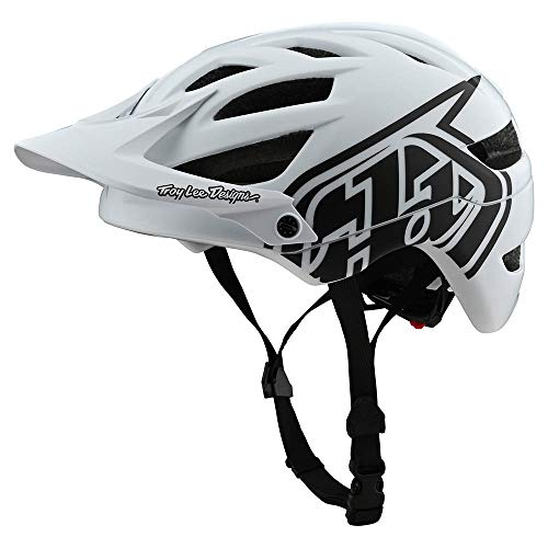 Troy Lee Designs Adult   Trail   All Mountain   Mountain Bike A1 Drone Helmet (MD/LG, White/Black)