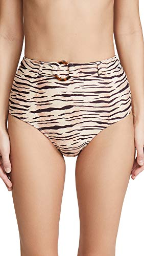 Faithfull The Brand Women's Lavande Bikini Bottoms, Wlydie Animal Print, Small