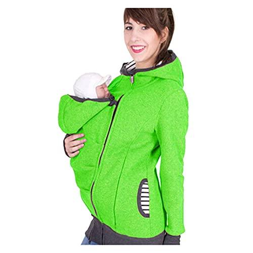 Sudadera Capucha portabebé Bolsillo Maternidad Funcional portabebés Hoddies Canguro mamá Abrigo 11 Colores Disponibles S/M/L/XL / 2XL Ropa de Embarazo