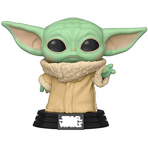 LINRUS Figura de una Pieza Star Wars Child Baby Yoda Mandalorian Pop The Mandalorian Juguetes coleccionables Estatua de PVC para ninos de 4 anos en adelante