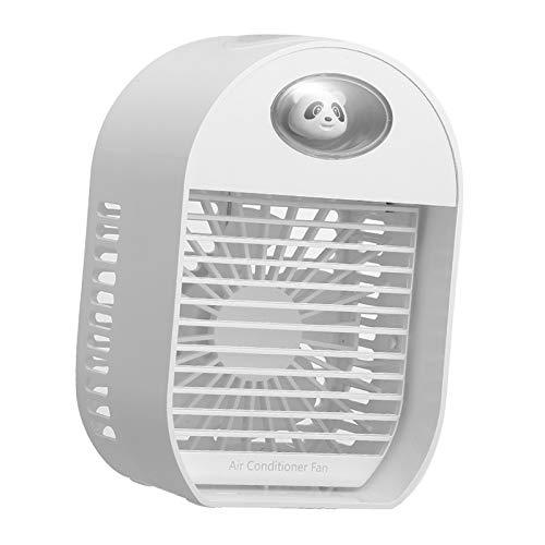Baoblaze Enfriador de Aire portátil, pequeño acondicionador de Aire, Ventilador de refrigeración y humidificador, Mini difusor de Aroma de Ventilador Enfriador - Blanco
