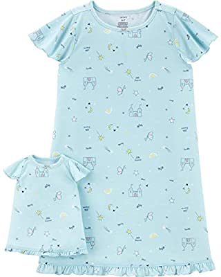 Carter's Girls' 4-14 Jersey Gown and Doll Dress Set, Princess, 2-3