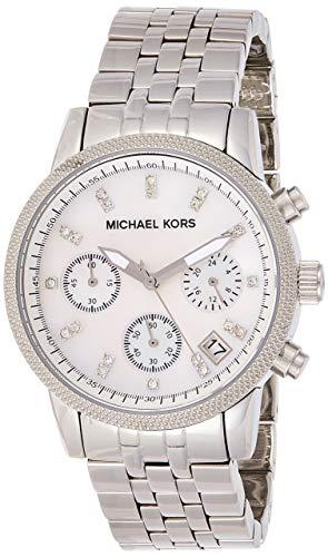 Michael Kors Orologio Cronografo Analogico Donna con Cinturino in Placcato in Acciaio Inox MK5020
