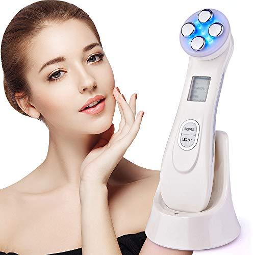 Ultrasuoni Viso Antirughe - Ultrasuoni Terapia LED Radiofrequenza Viso e Corpo Massaggiatore Viso Antirughe, Anti-età per la Pelle Dell'acne per il Ringiovanimento Della Pelle Cura del Viso Quotidiana