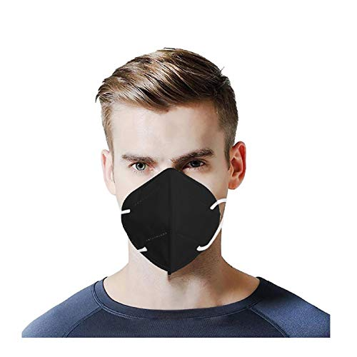 50pcs Black Disposаble_𝙉𝟵𝟱_Mẵsk with Nose Bridge Clip Design, 5 Layers Cup Dust Safety Face ṁàsḱs for Coronàvịrụs Protectịon, Fịlter Efficịency≥95%, Safety Facial Mouth Covers